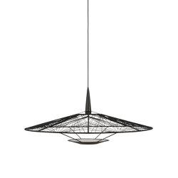 Carpa | Pendant Lamp | L Black | Suspended lights | Forestier