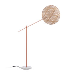 Chanpen | Floor Lamp | L Copper/Natural | Lámparas de pie | Forestier