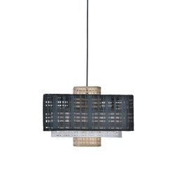 Matrix | Pendant Lamp | Natural/White/Black | Suspended lights | Forestier