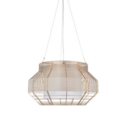 Mesh | Pendant Lamp | L Champagne | Suspended lights | Forestier