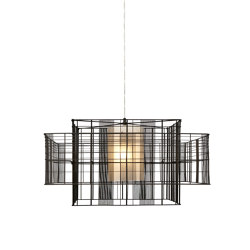 Mesh Cubic | Pendant Lamp | L Black/Grey | Suspended lights | Forestier