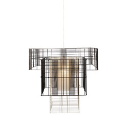 Mesh Cubic | Pendant Lamp | XL Black/Grey | Suspended lights | Forestier