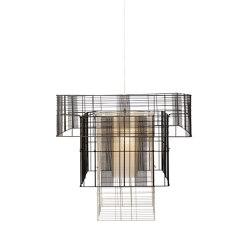 Mesh Cubic | Pendant Lamp | XL Black/Grey | Lámparas de suspensión | Forestier