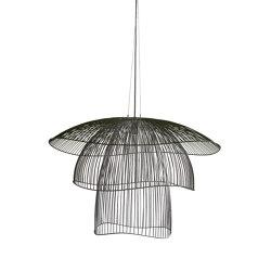 Papillon | Pendant Lamp | L Black | Suspended lights | Forestier