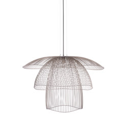 Papillon | Pendant Lamp | L Metallic Taupe | Suspended lights | Forestier