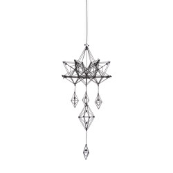 Talisman | Pendant Lamp | L Black | Suspended lights | Forestier