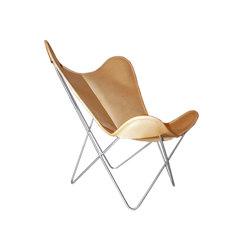 Hardoy Butterfly Chair ORIGINAL leather honey brown | Armchairs | Weinbaums