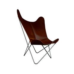 Hardoy Butterfly Chair GRAND COMFORT Leder tabakbraun | Sessel | Weinbaums