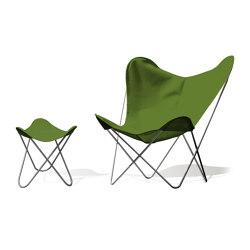 Hardoy Butterfly Chair OUTDOOR Batyline pistazie mit Ottoman | Sessel | Weinbaums