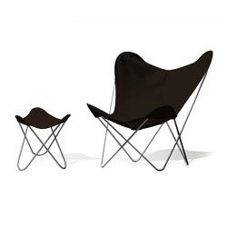 Hardoy Butterfly Chair OUTDOOR Batyline chocolate mit Ottoman | Sessel | Weinbaums