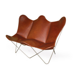 Butterfly TWIN CHAIR Leder tabakbraun | Benches | Weinbaums