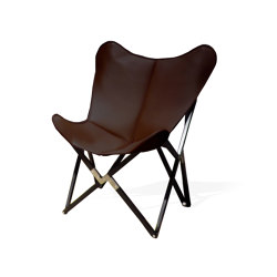 Fenby Tripolina Chair GRAND COMFORT leather coffee brown | Armchairs | Weinbaums