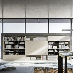Logiko horizontal bookcase | Wall storage systems | Jesse
