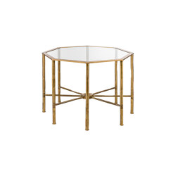 Bamboo | Bamboo stalks octagonal table | Mesas auxiliares | Il Bronzetto - Brass Brothers & Co