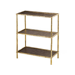 Bamboo | Bamboo stalks three shelf rack | Shelving | Il Bronzetto - Brass Brothers & Co