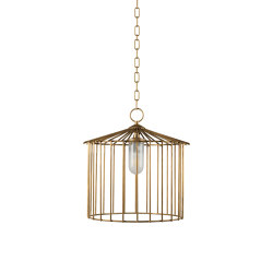 Cage | Chain outdoor chandelier small | Outdoor pendant lights | Il Bronzetto - Brass Brothers & Co