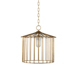 Cage | Chain outdoor chandelier medium | Suspensions d'extérieur | Il Bronzetto - Brass Brothers & Co