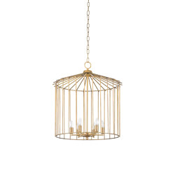 Cage | Chain indoor chandelier small | Suspensions | Il Bronzetto - Brass Brothers & Co