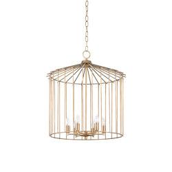 Cage | Chain indoor chandelier medium | Suspensions | Il Bronzetto - Brass Brothers & Co