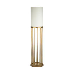 Cage | Round floor lamp with linear design | Free-standing lights | Bronzetto