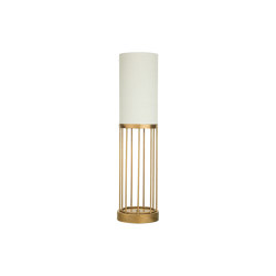 Cage | Round table lamp with linear design | Table lights | Il Bronzetto - Brass Brothers & Co
