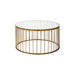 Cage | Round coffee table with linear design | Tables basses | Il Bronzetto - Brass Brothers & Co