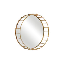 Cage | Round mirror with linear design medium | Miroirs | Il Bronzetto - Brass Brothers & Co