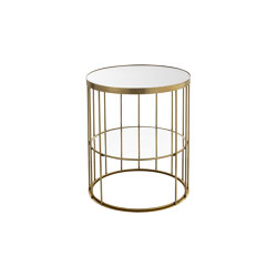 Cage | Round tall coffee table with linear design | Mesas auxiliares | Il Bronzetto - Brass Brothers & Co