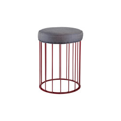 Cage | Juta or fabric seat bench | Stools | Il Bronzetto - Brass Brothers & Co