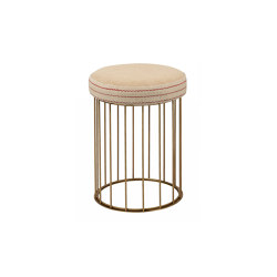 Cage | Juta or fabric seat bench | Tabourets | Il Bronzetto - Brass Brothers & Co