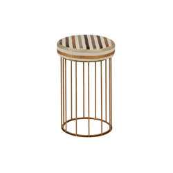 Cage | Juta or fabric seat bench | Sillas de trabajo altas | Il Bronzetto - Brass Brothers & Co