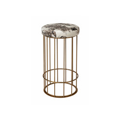Cage | Juta or fabric seat bench | Tabourets de bar | Il Bronzetto - Brass Brothers & Co