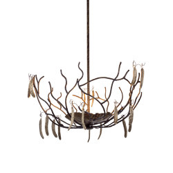 Carrubo   Carob beans chandelier   Suspended lights   Il Bronzetto - Brass Brothers & Co