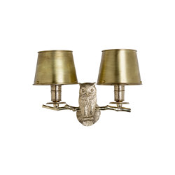 Fauna | Owl wall light | Appliques murales | Il Bronzetto - Brass Brothers & Co
