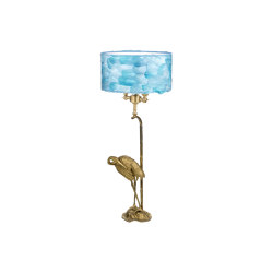 Fauna | Heron light blue table lamp | Table lights | Il Bronzetto - Brass Brothers & Co