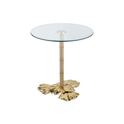 Gingko Biloba | Leaves base table small | Bistro tables | Il Bronzetto - Brass Brothers & Co