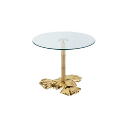 Gingko Biloba | Leaves base table grande | Tables d'appoint | Il Bronzetto - Brass Brothers & Co