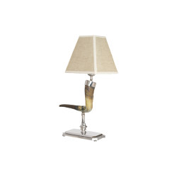 Horn | Curved horn table lamp | Table lights | Il Bronzetto - Brass Brothers & Co
