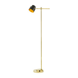 Satellite | Industrial-chic Floor lamp hight 163 cm | Free-standing lights | Il Bronzetto - Brass Brothers & Co
