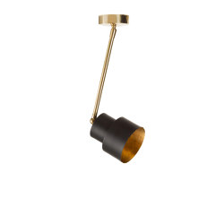 Satellite | Industrial-chic small spot light | Lámparas de techo | Il Bronzetto - Brass Brothers & Co