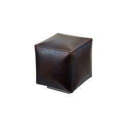 Softiron | Iron square pouff with base | Taburetes | Il Bronzetto - Brass Brothers & Co