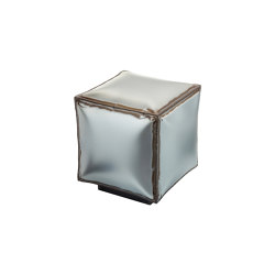Softiron | Iron square pouff with worn out edges | Tabourets | Il Bronzetto - Brass Brothers & Co