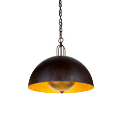 Soundlight | Chandelier half sfere with integrated sound small | Suspended lights | Il Bronzetto - Brass Brothers & Co