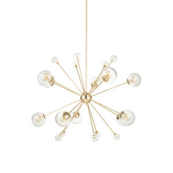 Timeless | Solar System chandelier small | Suspended lights | Il Bronzetto - Brass Brothers & Co