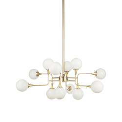 Timeless   Multiple sferes chandelier small   Suspended lights   Il Bronzetto - Brass Brothers & Co