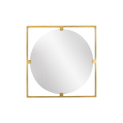Timeless | Geometric square mirror | Miroirs | Il Bronzetto - Brass Brothers & Co