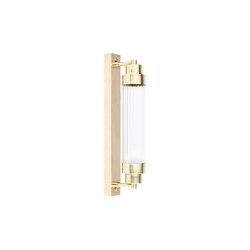 Timeless | Applique cilindrica con placca piccola | Lampade parete | Il Bronzetto - Brass Brothers & Co