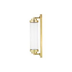 Timeless | Cilindric on rectangular plate wall light medium | Appliques murales | Il Bronzetto - Brass Brothers & Co