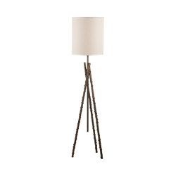 Wild Rose | Estensible rosehips stalks floor lamp | Lámparas de pie | Il Bronzetto - Brass Brothers & Co