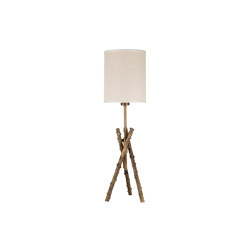 Wild Rose | Estensible rosehips stalks table lamp small | Lámparas de sobremesa | Il Bronzetto - Brass Brothers & Co